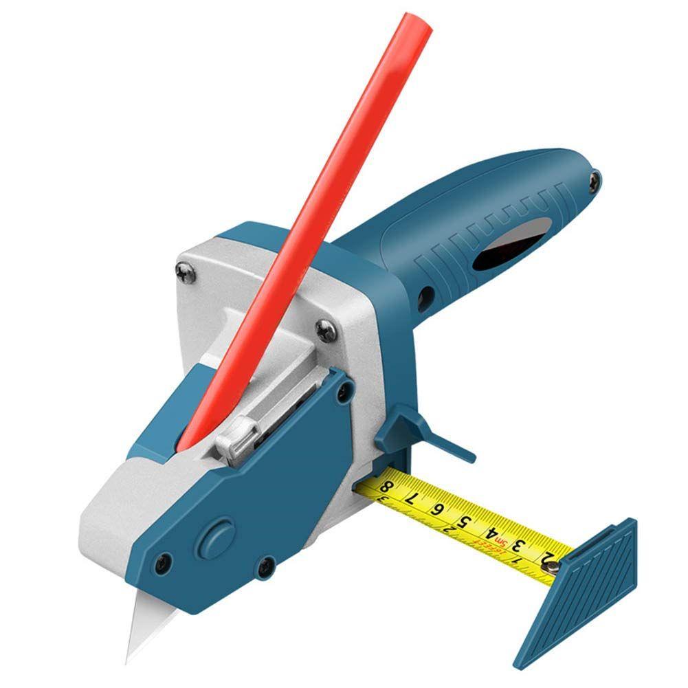 Portable cartongesso dispositivo di taglio taglio per cartongesso Artefatto utensili con 5M Metro a nastro Lavorazione Legno Scribe Strumenti Tagliere