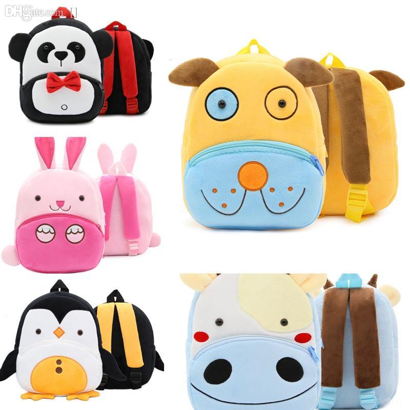 P97ZV Fashion Zoo Series School étudiant adolescent joli sac sac girl lunch femmes applique mignon harajuku sac à dos sac à dos Relief Kawaii Siivi