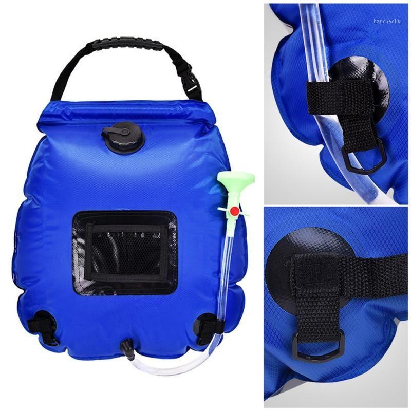 Сумки на открытом воздухе солнечные походы кемпингом Душевая сумка 20L Отопление Гидратационный шланг переключаемый Head1