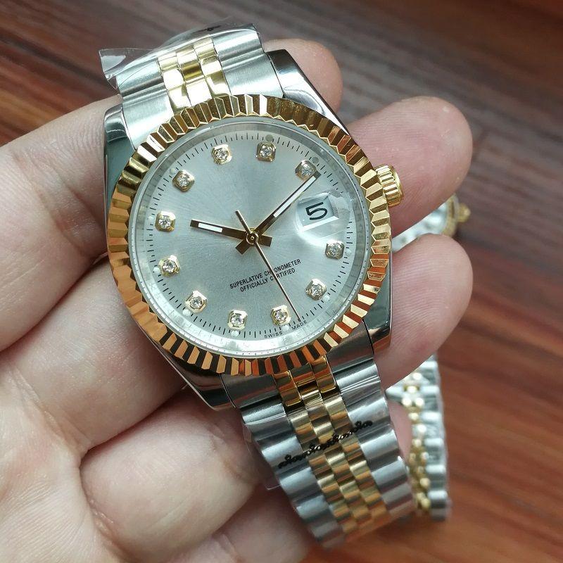Нержавеющие наручные часы 28 мм / 36 мм Женщины Механические мужчины Стальные мужские Женские часы часов автоматические OJBMP