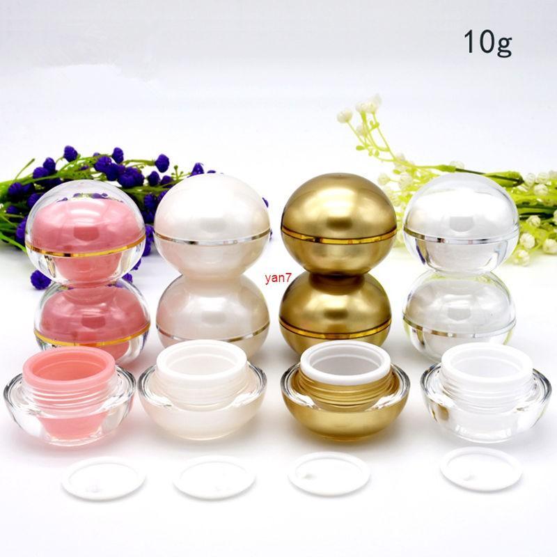 10G Cream Jar 4 Colori per labbra Balsamo Rossetto Vuoto Svoglica Sbelical Lip Gloss Mini campione contenitore F20172050Good QualityGood Shopping