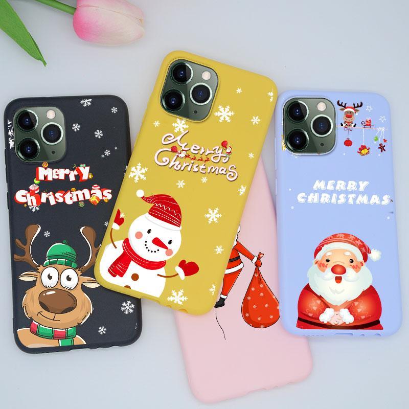 Mutlu Noel Noel Baba Silikon Kılıf iPhone X XR XS MAX 11 MAX 7 PRO 8 6 6S Artı Telefon Kapak TPU