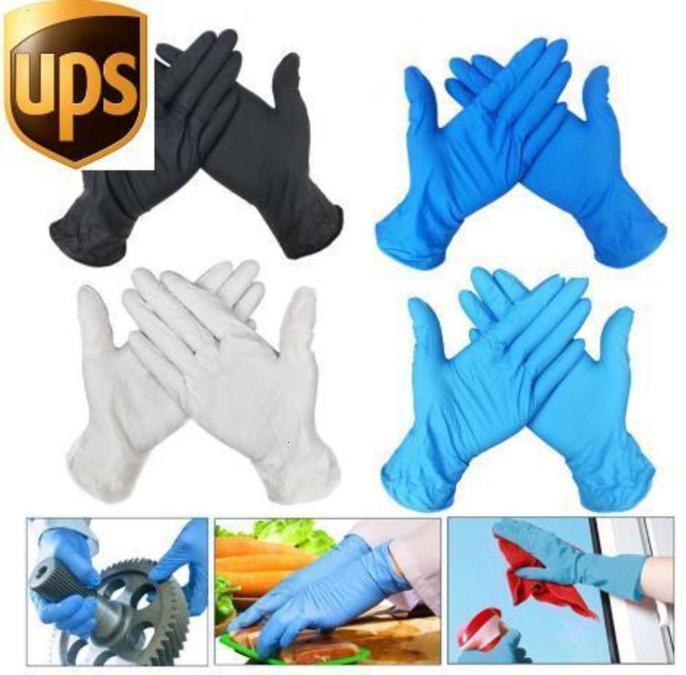 Factorynus1hot Latex 100pcs Guanto Nitrile Universal Stock Cucina monouso / Piatto per lavastoviglie / / da lavoro / in gomma / da giardino GUANTI SINISTRATI