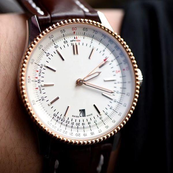 New Luxury Man B01 Uhren 43mm Leder breitling Stahlband Quarz mechanische Bewegung voll navitimer Arbeit suhren designer Armbanduhr lSBw #