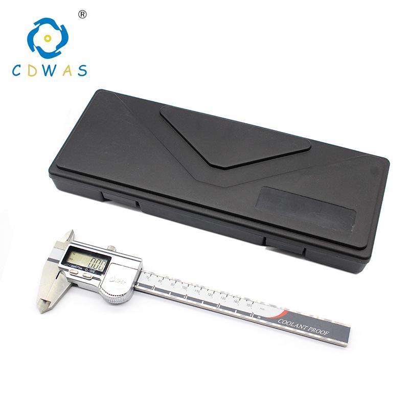 أداة قياس عالية الدقة الفولاذ المقاوم للصدأ الفرجار الرقمي 0-150mm IP54 IP67 أداة قياس Vernier الفرجار T200602