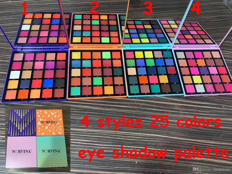 Sıcak ABH Marka Makyaj Göz farı Paleti 25 Renk Glitter Işıltılı Mat Göz Paleti Mor Turuncu Mavi 4 Styles Noel Hediyesi pembe shadow