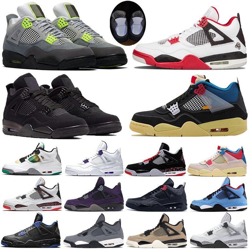 4s Zapatillas de baloncesto ة جديدة وصول 4 فون لسلة ما الفردي يوم البديل الرعد الطمي RED WINGS البرق الأزياء والأحذية الرجال 7-13