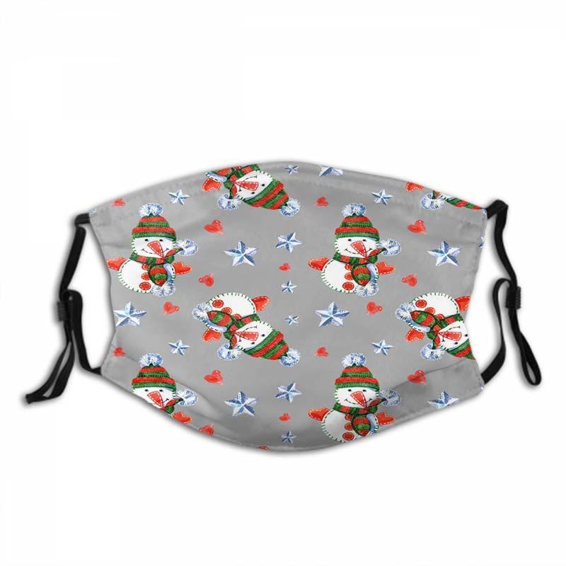 Маски для лица Рождества Открытых взрослые мода многоразовой маски для лицо Солнцезащитного пыле- и дышащие Маски 227