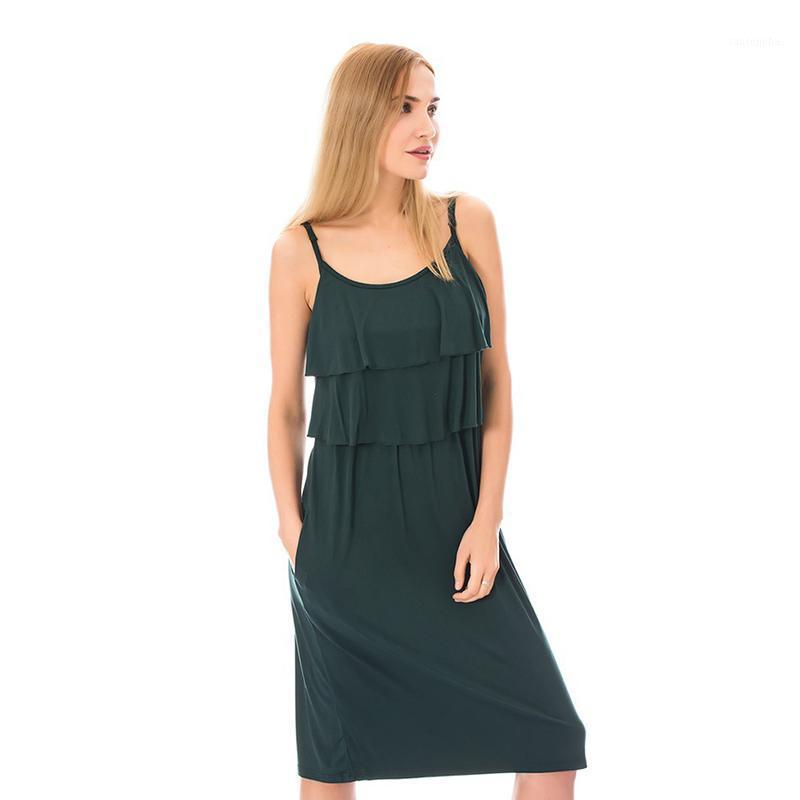 Women Dress Maternity Pleated Breastfeeding Dress With Straps Maternity Summer Sleeveless Clothes for Pregnant Nursing1