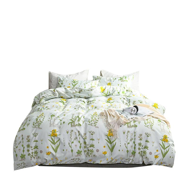 Conjuntos de cama Folha xadrez 2/3 PCS Cama de roupa de cama Set Edguete Tamanho Rainha SheetsPillowcases King Consolter