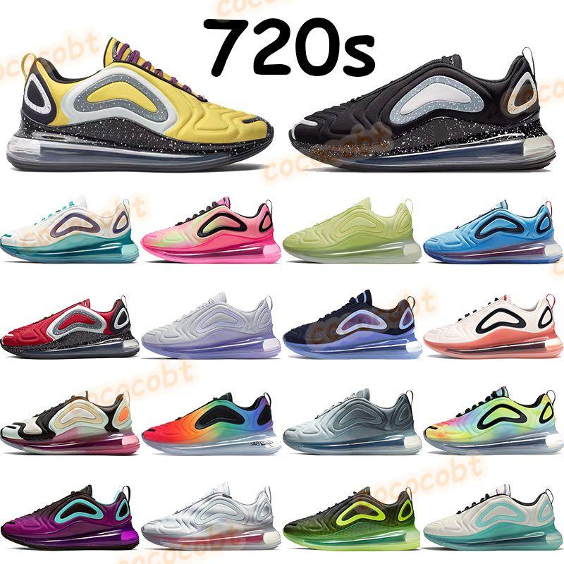 2020 hommes femmes 720s chaussures de course noir néon être vrai éclipse totale pur platine sous couverture rouge gaufre tie dye oxygène violet baskets