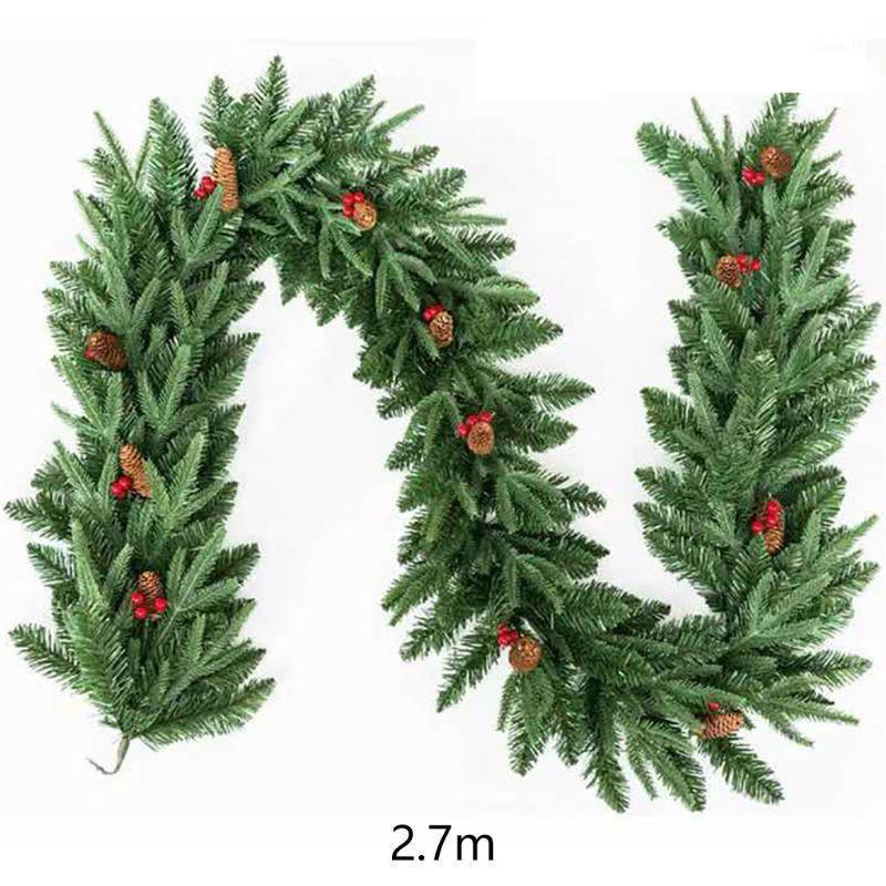 Weihnachten Künstliche Rebe Girlande 2,7 m Weihnachten Home Party Urlaub Weihnachtsdekor Rattan1