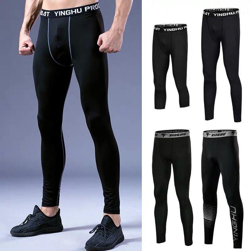 Беговые штаны Мужская бодибилдинг фитнес сжатия йога леггинсы мужчины спортивные базы слоя брюки рутинговые1