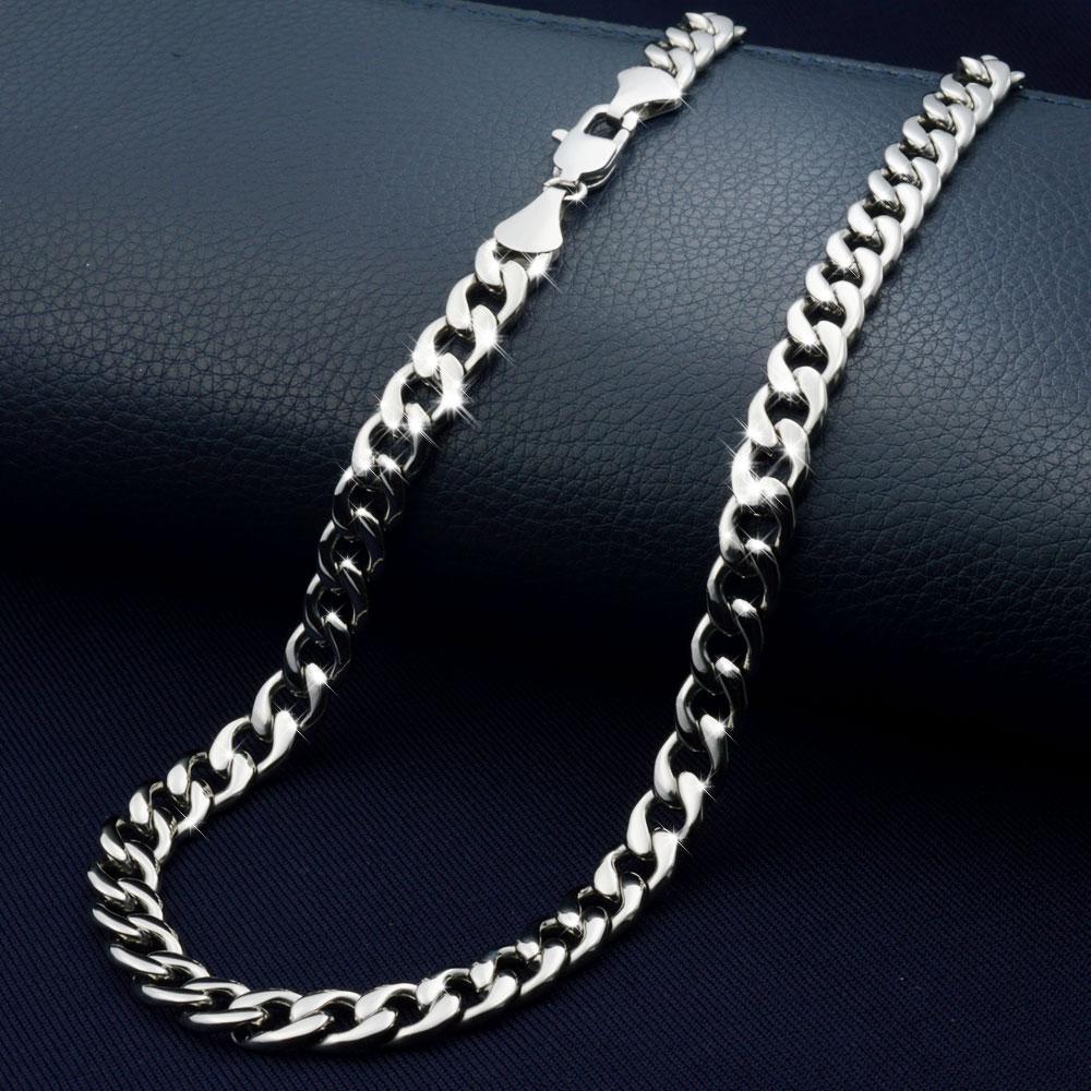 7,5 mm Kühler Edelstahl Halskette Kette N361 50CM 60CM 70CM Hüfte N361 Pop