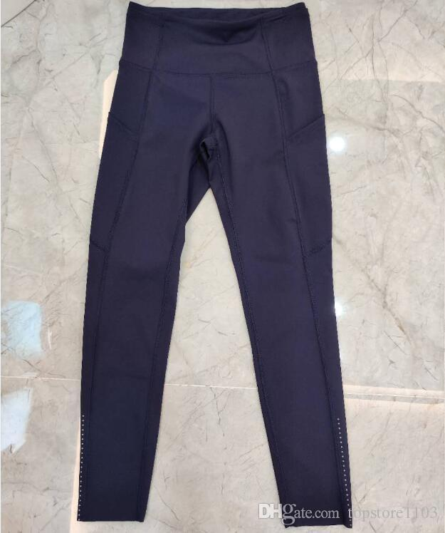 top Pocket, High Waist Yoga Pants Sexy Lady Raising Hips, Tight Running Fitness Double Side Brocade Pants High Elasticity