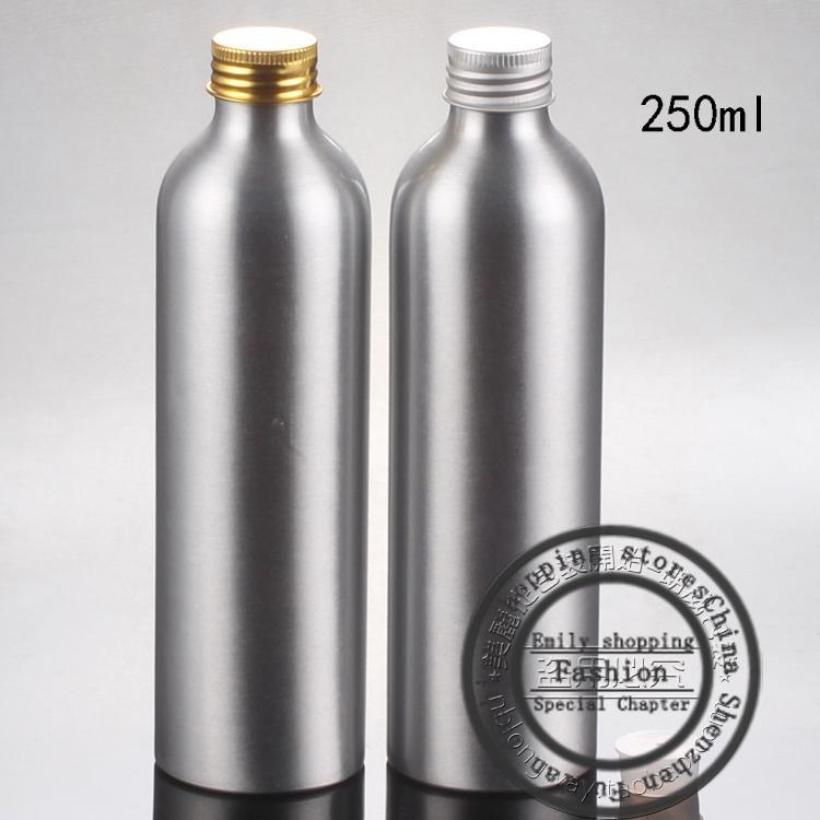 Nuevo 20pcs, botellas de aluminio ordinarias de 250 ml, mini botellas de viaje, envases cosméticos, botellas de perfume, botellas de perfume
