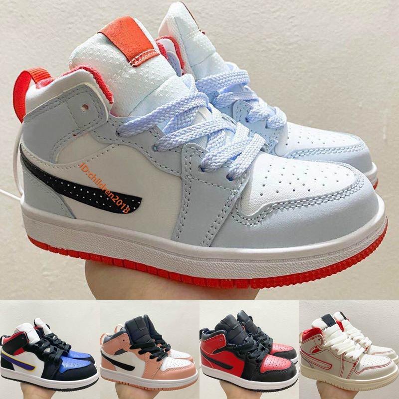 Acheter Pas Cher Nike Air Jordan 1 Mid Enfants Chaussures 2020 ...