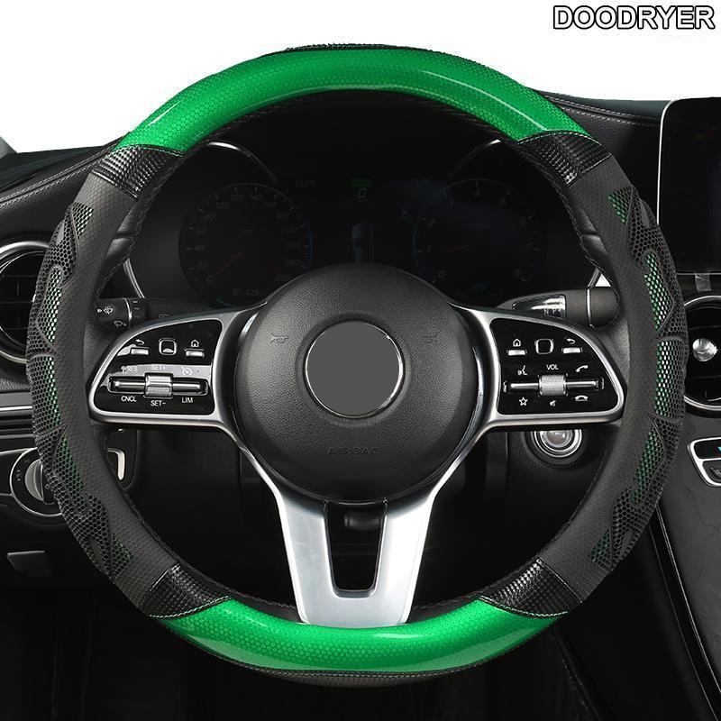 Doodryer Carbon Fibre Кожаный автомобиль Рулевая крышка для Isuzu d Max Trooper Rodeo MUX Ertiga APV IGNIS Edition SX41