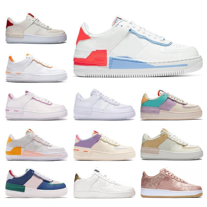 2020 Erkek Kadın Koşu Ayakkabıları Soluk Fildişi Kırmızı Mavi Gölge Pollen Yükseliş Toplam Turuncu Tip 1 Erkek Eğitmenler Spor Sneakers Boyutu 36-45