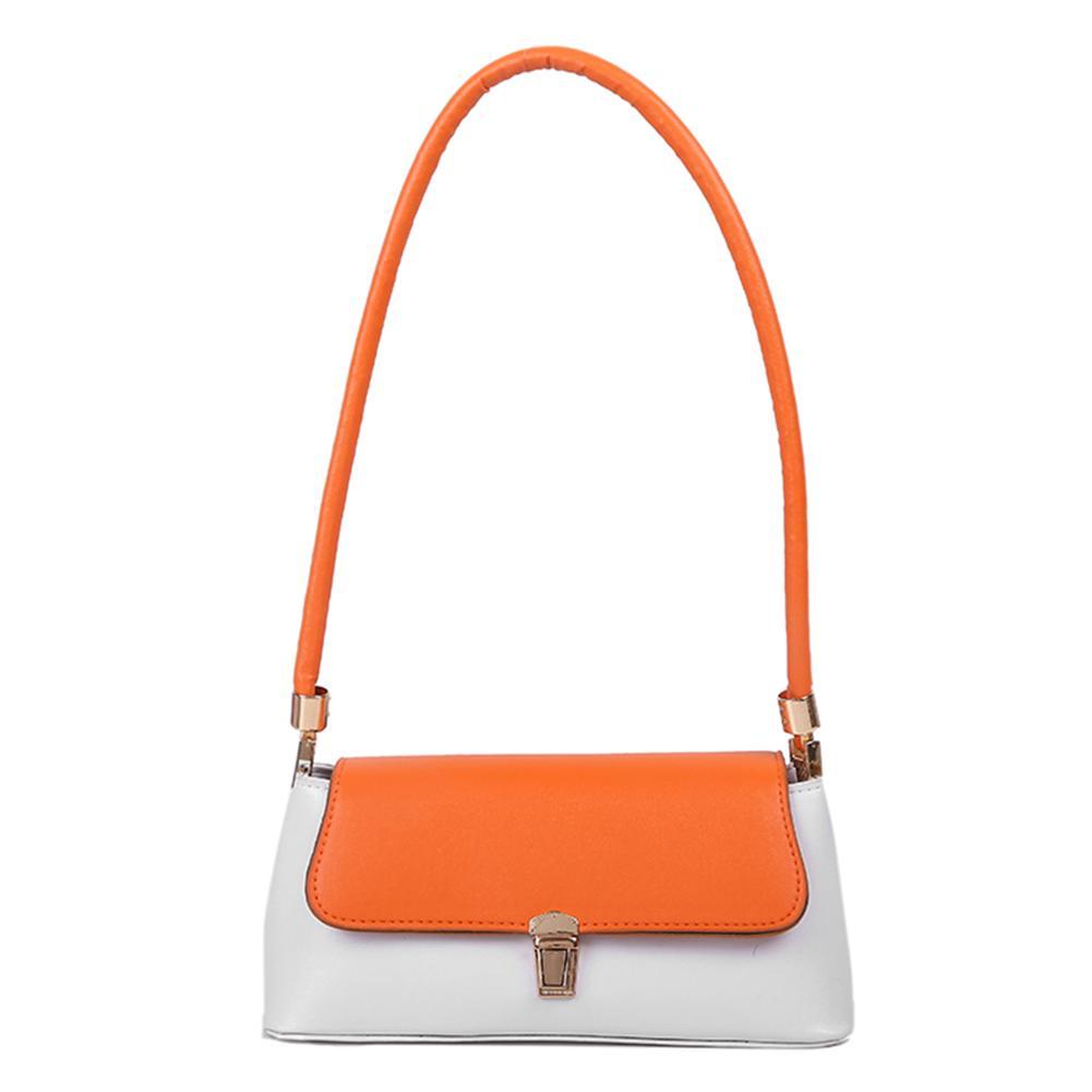 HBP Organge المرأة عارضة حقيبة يد جلدية الكلاسيكية الملمس الإبداعية تصميم السيدات الدقيقة اللون ضرب اللون الصغيرة حقائب السفر حقيبة الكتف الأخضر