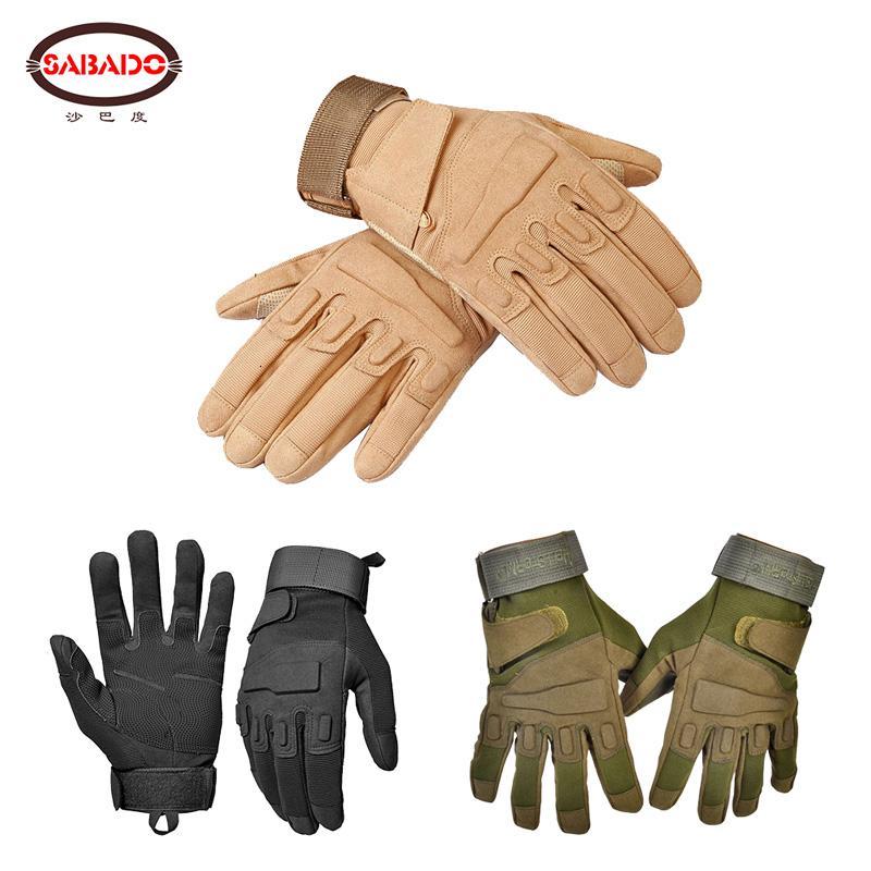 Lederwollwarwing-Motorrad-Halbfinger-Jagd-taktische Handschuhe