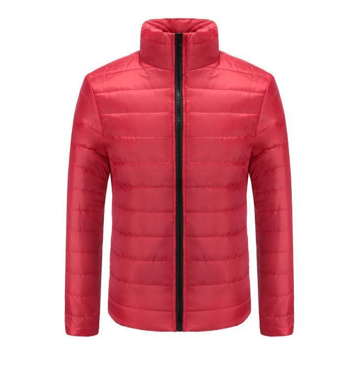 2020 ocasionales de los hombres de la cremallera abrigos para hombre caliente del invierno capa ocasional del hombre chaquetas de algodón acolchado abrigo