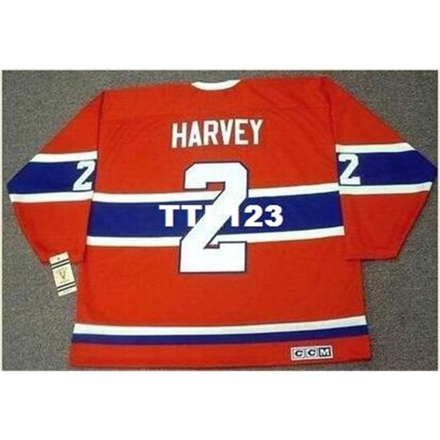 421s # 2 Doug Harvey Montreal Canadiens 1959 ccm Vintage ck Away Home hockey jersey o personalizzato Qualsiasi nome o numero maglia retrò