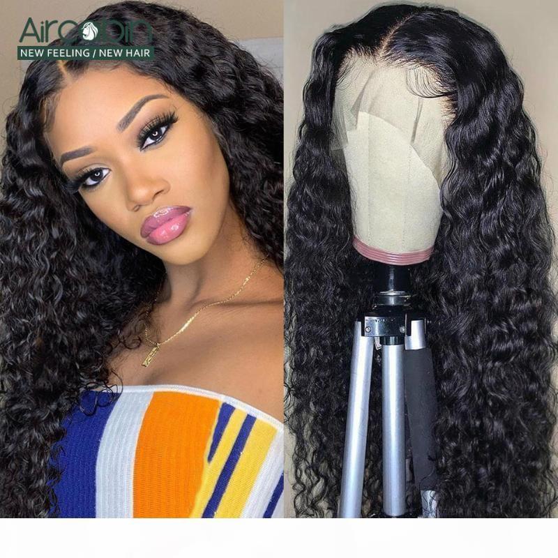 Aircabin Wasserwelle 30 Zoll 13x6 Typ T HD Spitze Perücken Glueless Brasilianisches Remy Human Hair Natürliche Farbe Perücke Für Frauen 150% Dichte