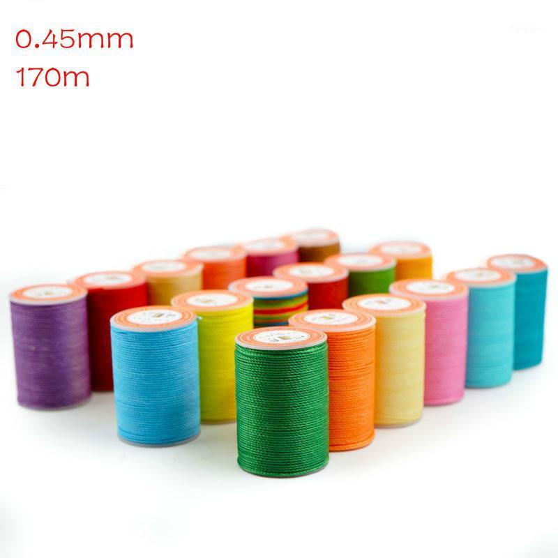 170m Waxed Thread round polyester diy Hand Knitting String Strap Necklace Rope Bead Sewing Craft for Leather Caft Stitching 0.451