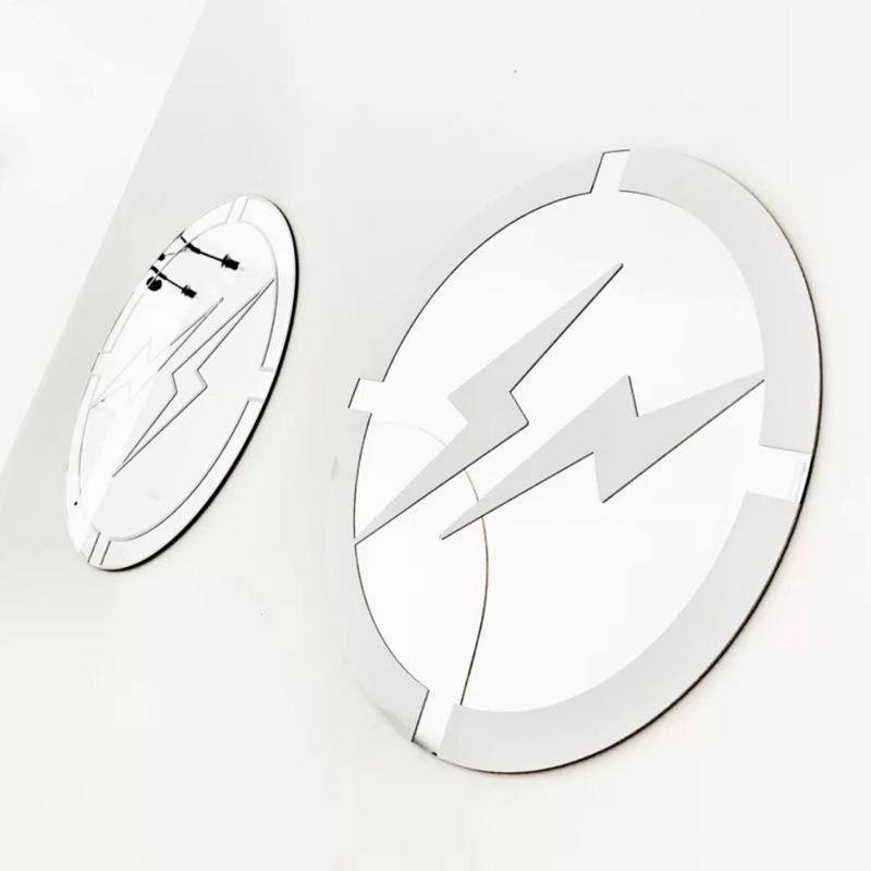 40cm 1 par Antecedentes de moda Fujiwara Espejos flash impresión creativas de la pared de cristal colgante Espejos de mesa Espejo decorativo