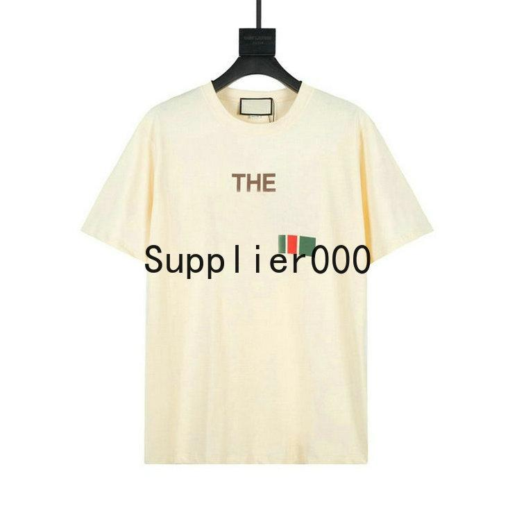Nouvelle arrivée Europe Version HIP HOP HOP COOL ITALIE USA Collaborez lettre T-shirt T-shirt Skateboard Cool Tshirt Hommes Femmes Coton Tops Tee