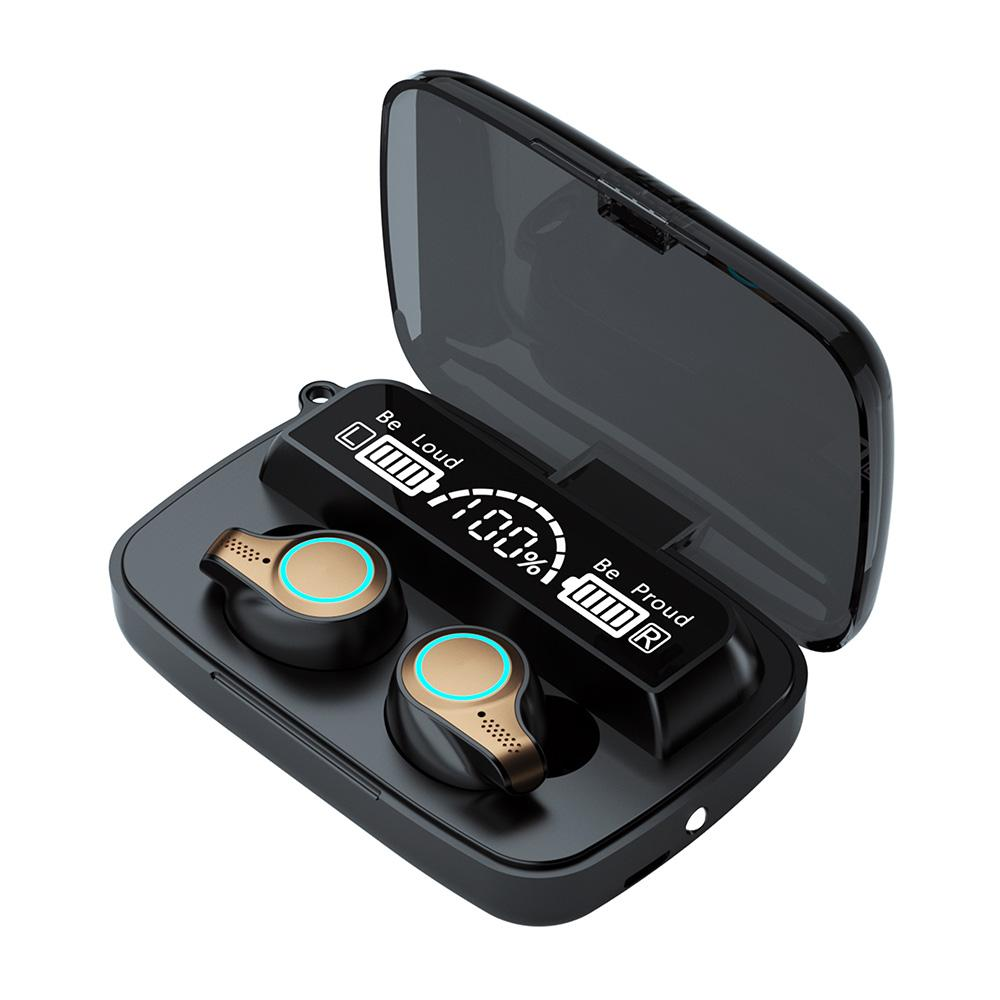 Auriculares inalámbricos con auriculares M18 TWS con micrófonos 5.0 táctiles a prueba de agua a prueba de audífonos inalámbricos para iPhone Xiaomi