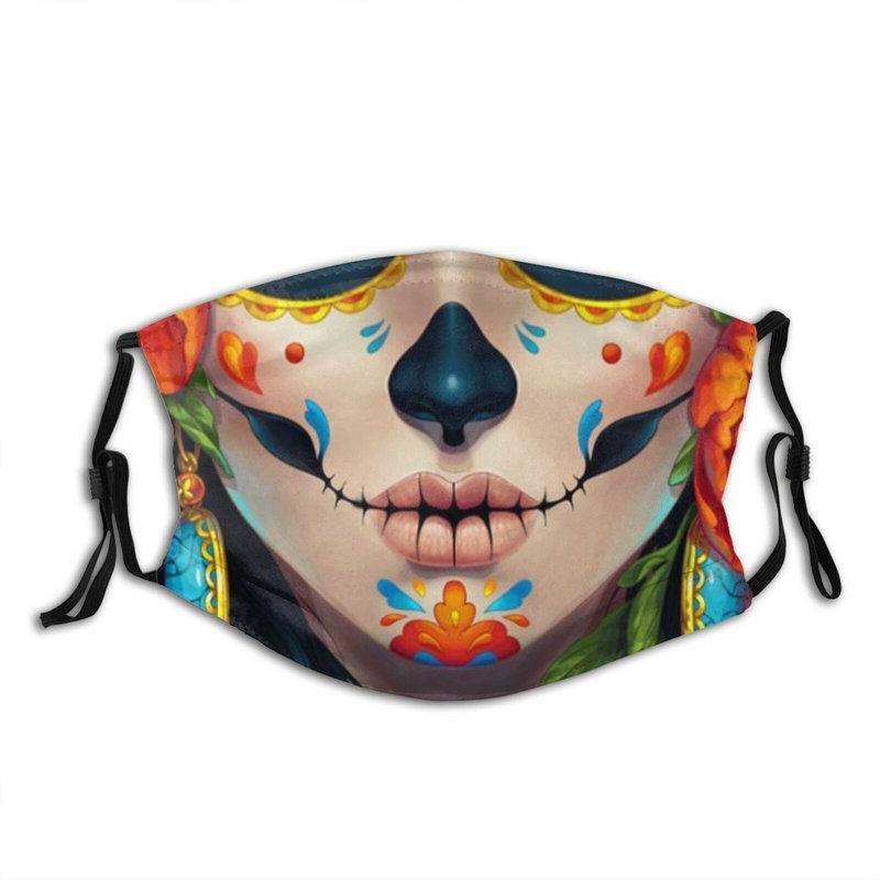Ayarlanabilir Kulak Döngüler ile Karbon Filtre Ağız Maskeleri Yeniden kullanılabilir yıkanabilir Yetişkin Toz Yüz Maskesi Aktif Ölü PM2.5 Günü