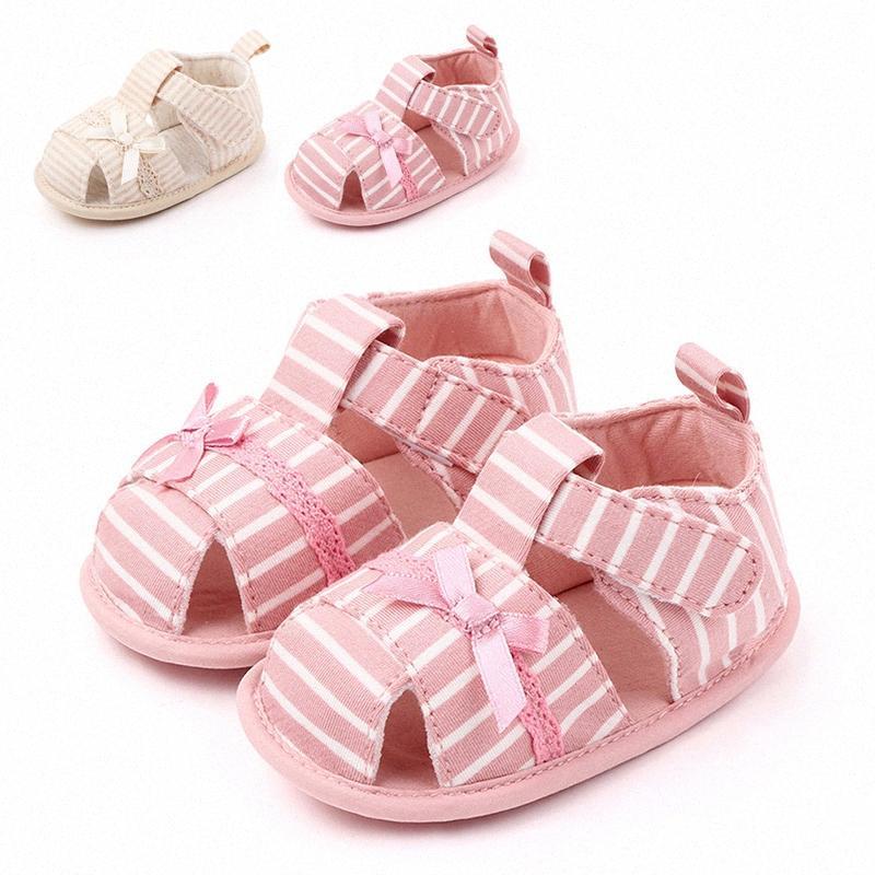 Suola molle delle neonate del cotone dell'arco sandali moda scarpe estate Prewalkers ZqBC #