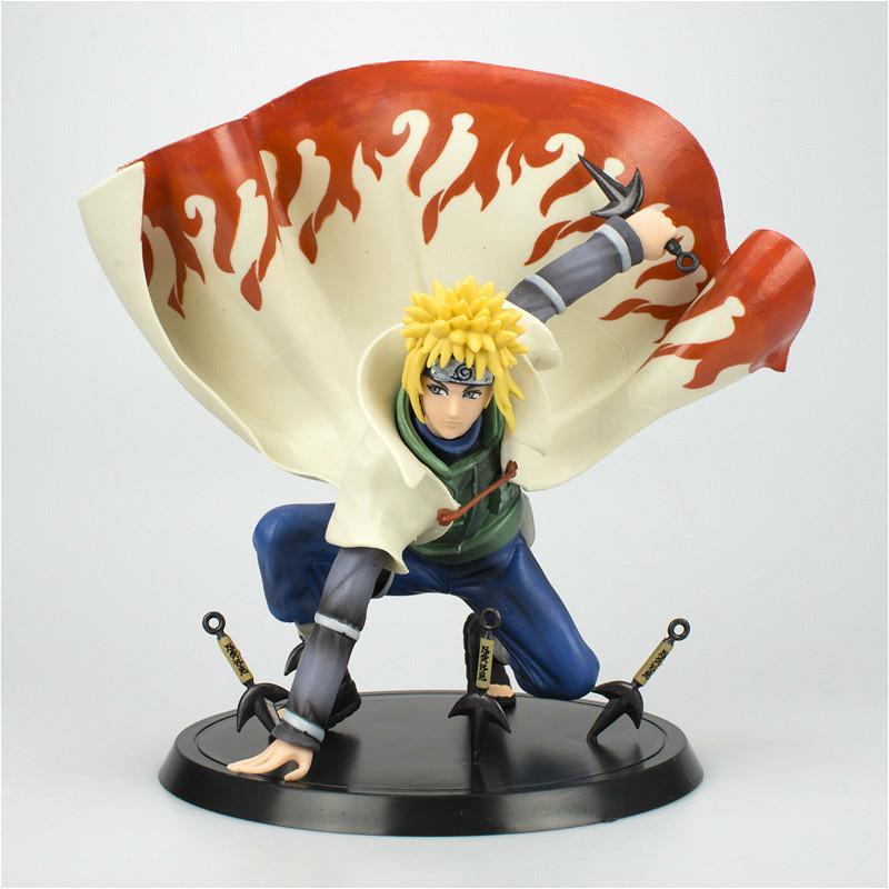 새로운 애니메이션 나루토 그림 나루코 미나토 액션 인물 Naruto Shippuden 입상 컬렉션 장식 PVC 모델 장난감 선물 인형 Y0112