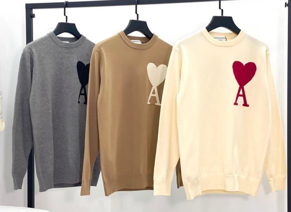 Pull en tricot en laine pour femmes de nouveaux hommes Classic Alexandre Sweater Mattiussi Col à col rond Top à manches longues