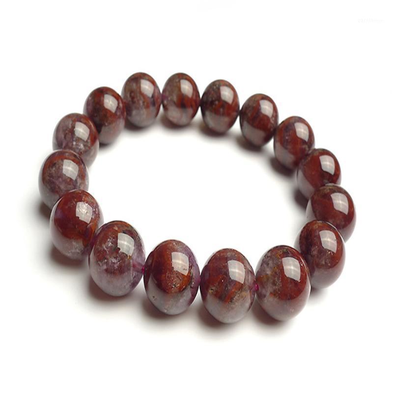 13mm Genuine Natural Auralite 23 Bracelets For Women Men Stretch Crystal Round Bead Bracelets Drop Shipping1