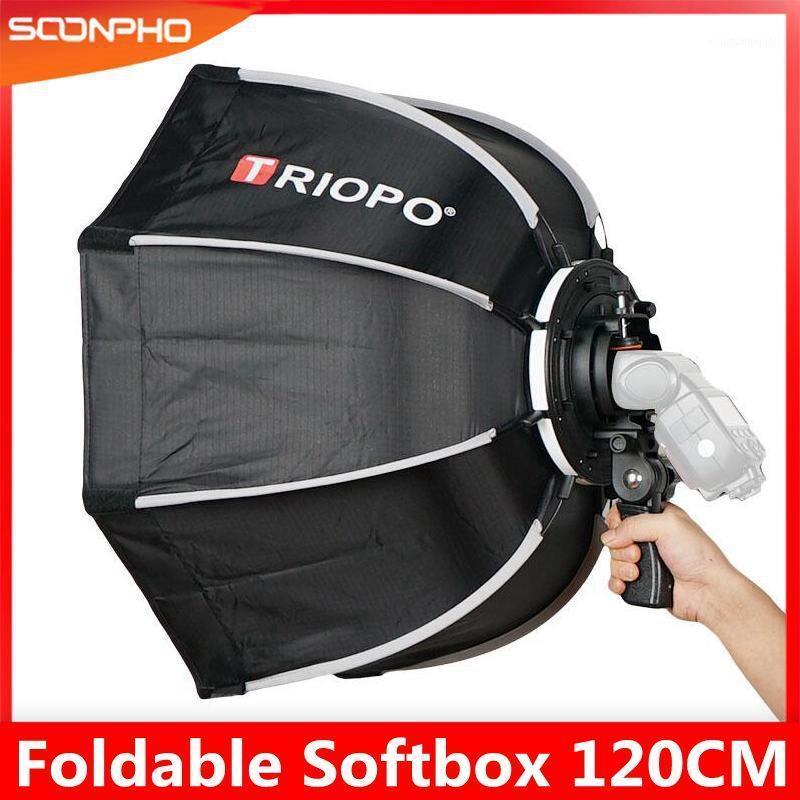 TRIOPO 120cm Caja suave de softbox octagono con mango para mango para Godox Yongnuo Speedlite Flash Flash Light FOTURY ACCESORIOS1