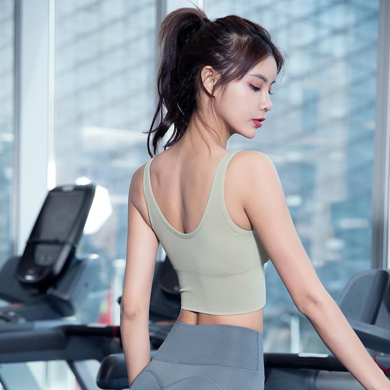 New Sports Yoga Fitness Course à pied Soutien-gorge Ladies Fitness Sports Sous-vêtements sexy Mode Beauté antichocs Retour Yoga Gilet