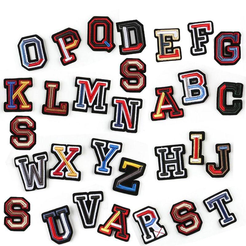 Parches bordados Plancha en la etiqueta de la insignia de parche para la bolsa de ropa Pantalón de la letra inglesa coser en el parche