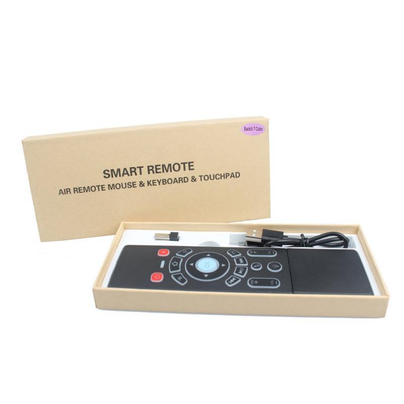 volare Mouse senza fili colorati retroilluminazione rete Mini Tastiera Multimediale set-top box TV intelligente telecomando Russo Inglese