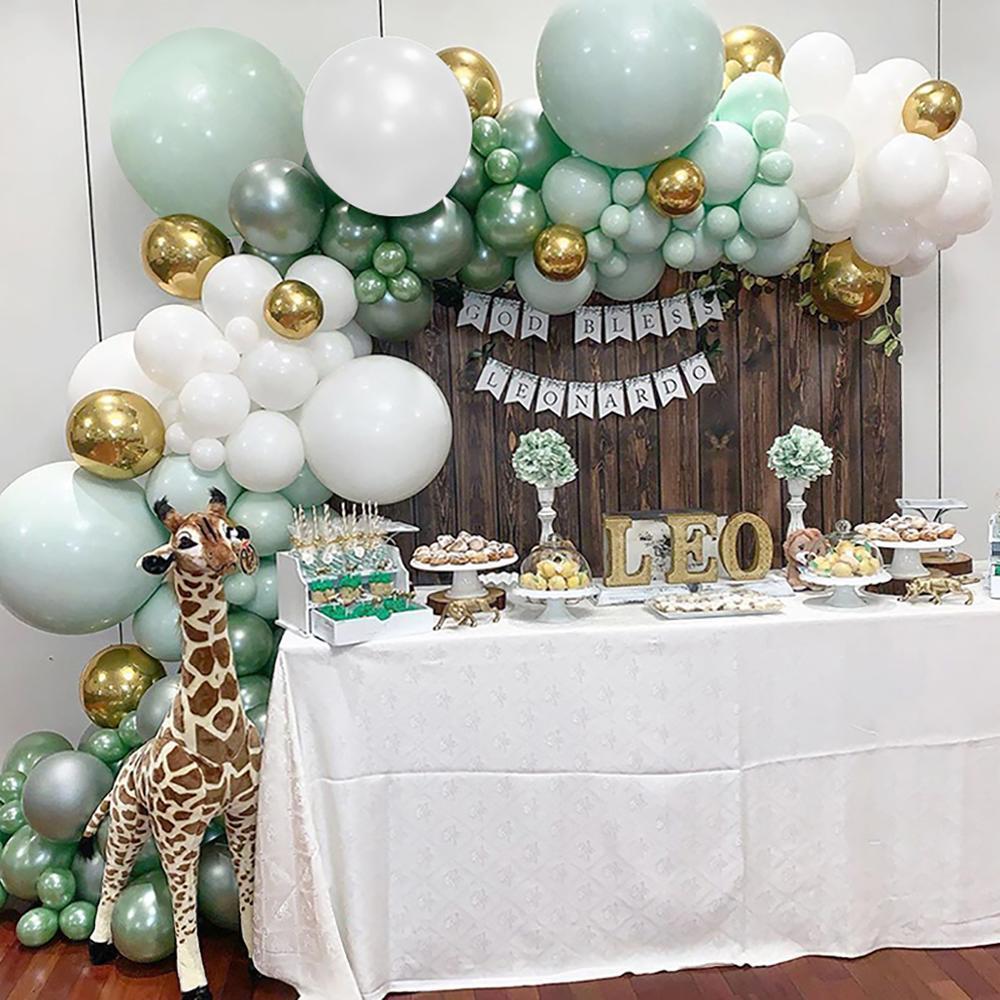 Macaron синий белый Воздушные шары Гирлянды Arch Kit Свадьба День рождения Ballon Birthday Party Decor Дети Baby Shower Мальчик Девочка Baloon 1027