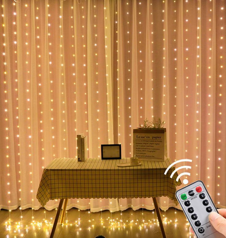 أحدث 3M300 مصباح الصمام النحاس الأسلاك ستارة مصباح usb التحكم عن نمط عطلة مصباح غرفة نوم الديكور الداخلي سلسلة