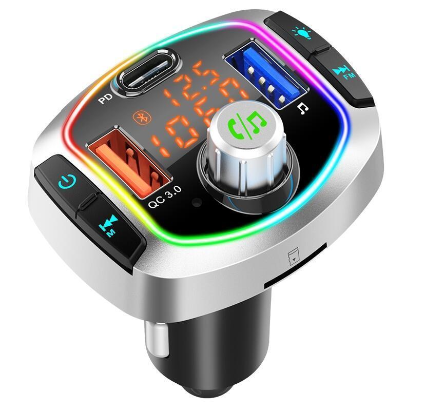 자동차 블루투스 5.0 듀얼 USB PD3.0 출력 QC3.0 지원 USB TF 카드 MP3 플레이어 BC66 BC63 지원