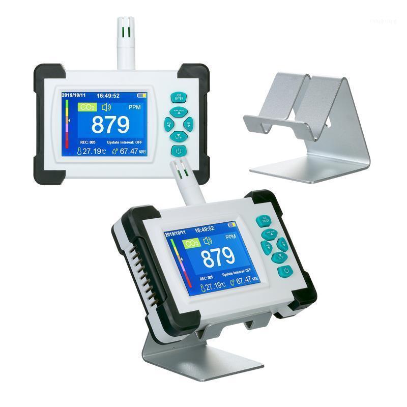 Detector de dióxido de carbono SR-510 com bateria portátil Detector de qualidade do ar do ar de CO2 Medidor de gás do monitor de CO2 com case1