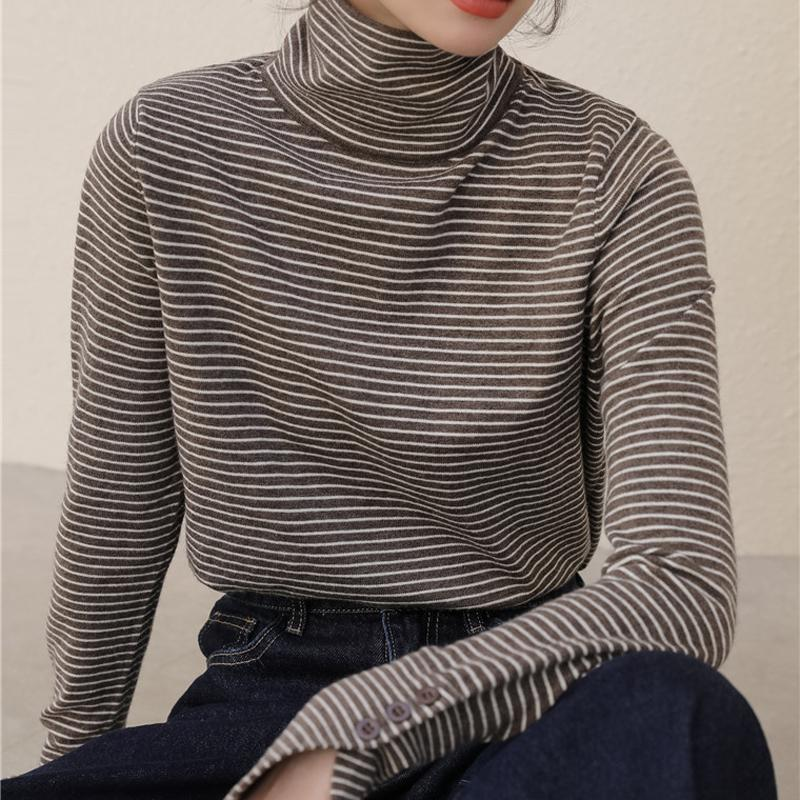 Sweaters Femmes Alien Kitty 2021 Femmes Striché Tricoté Femme Pullovers Sweet Loose Tertleneck Office Lady Casual Tous les matchs Tops