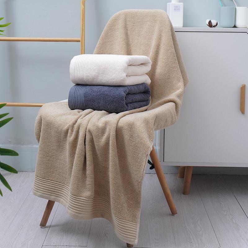 Aus 100% Baumwolle Badetuch verdickten weiches absorbierendes Haushalt 70x140cm erwachsenen Badetuch T05