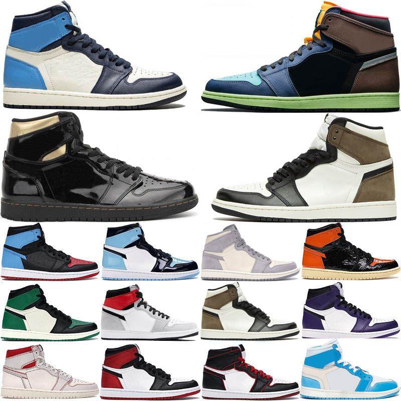 Nike Air Jordan 1 Retro Max 2021 Shoes alta OG 1 Mens Basketball Royal Blue 1s Top Black Gold Metallic Retros UNC Homens Mulheres das sapatilhas Airs Tamanho 36-47