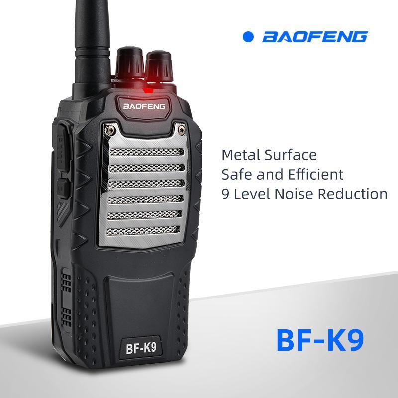 Baofeng bf-k9 telsiz sivil 5W yüksek güç walkie talkie 400-470MHz el açık şantiye Otel