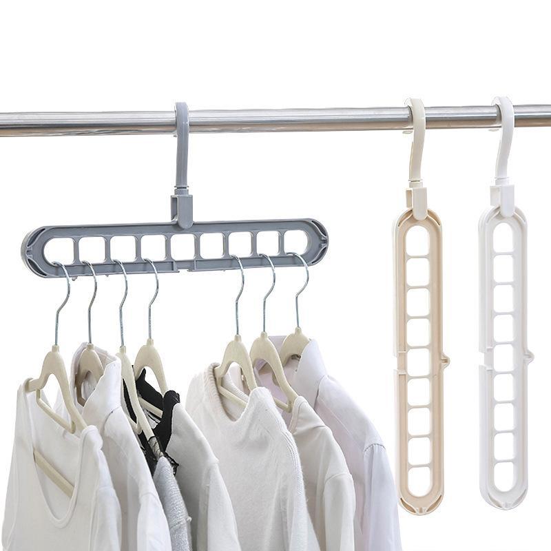 دوارة السحر متعدد المنافذ دعم الشماعات الملابس التجفيف الرف متعددة الوظائف البلاستيك الملابس رف تجفيف شماعات تخزين الشماعات VTKY2097